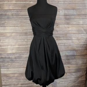 White House Black Market Bubble Dress Strapless